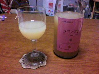 桃のワイン